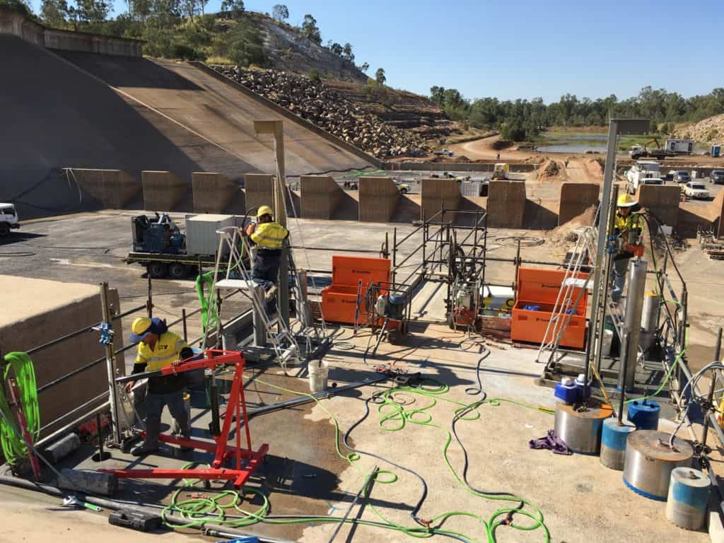 Core Drilling Cutting Force Fairbairn Dam Project